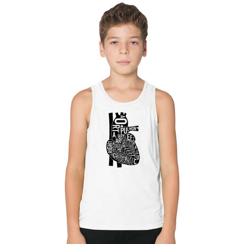 Anatomical Heart Kids Tank Top