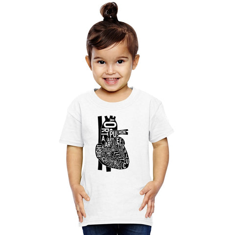 Anatomical Heart Toddler T-shirt