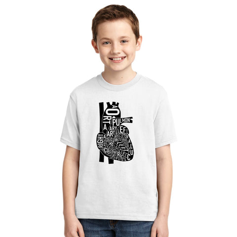 Anatomical Heart Youth T-shirt