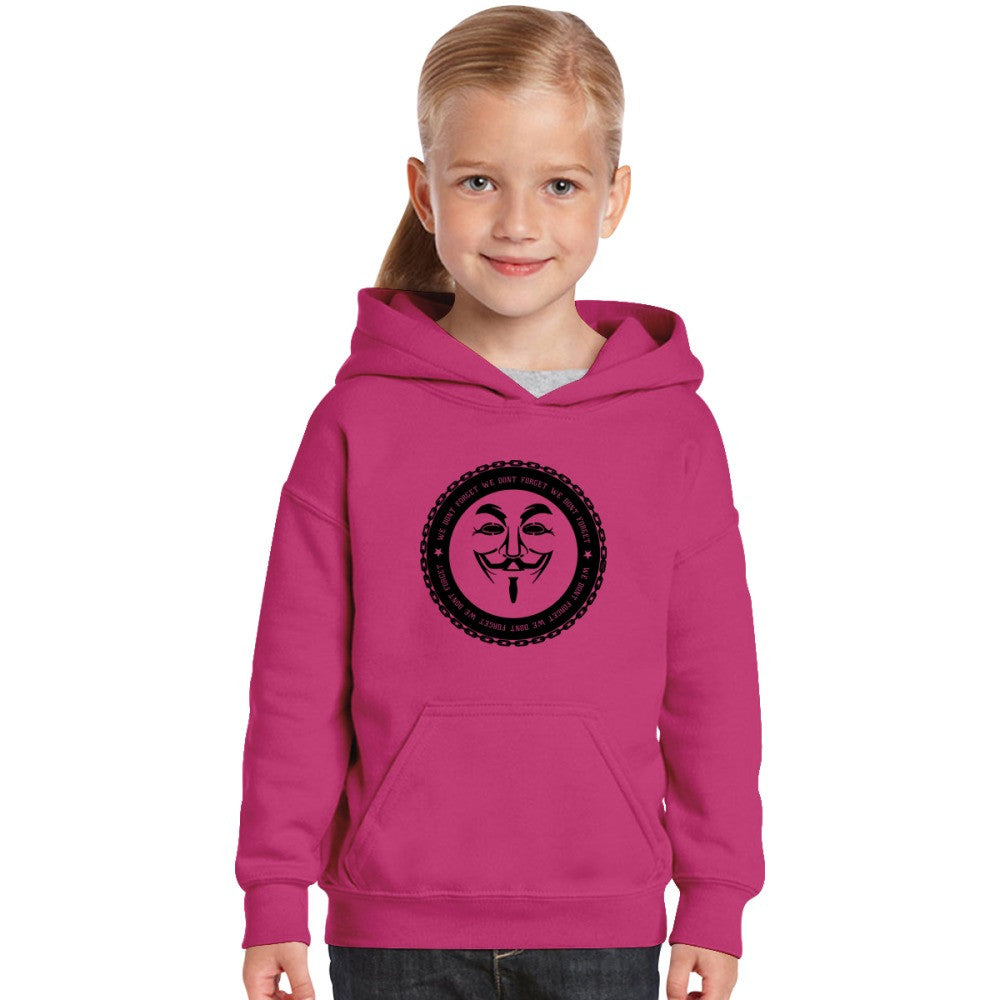Anonymous Hacker Internet Punk Anarchy Freedom Of Information Burnout Kids Hoodie