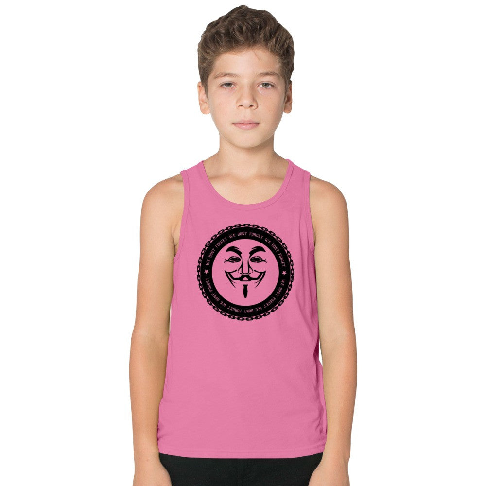 Anonymous Hacker Internet Punk Anarchy Freedom Of Information Burnout Kids Tank Top