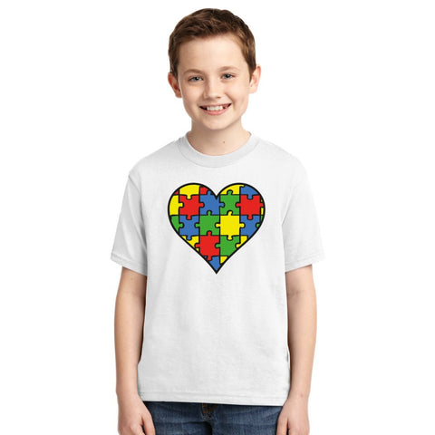Autism Awareness Heart  Youth T-shirt