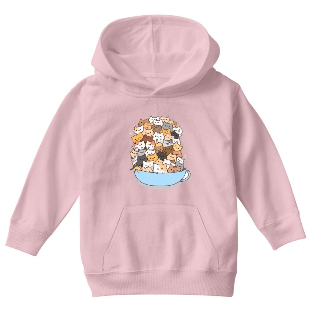 Cats On A Cup Kids Hoodie