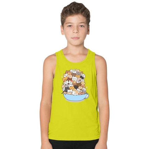 Cats On A Cup Kids Tank Top