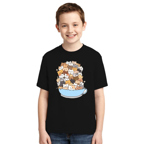 Cats On A Cup Youth T-shirt