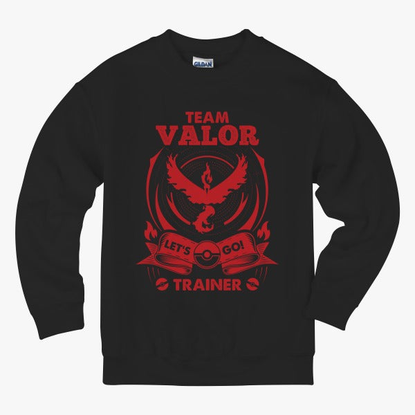 Team Valor - Lets Go Trainer Kids Sweatshirt