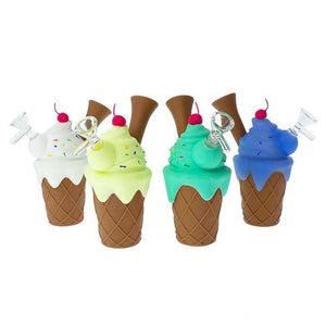 Ice Cream Silicone Water Pipe