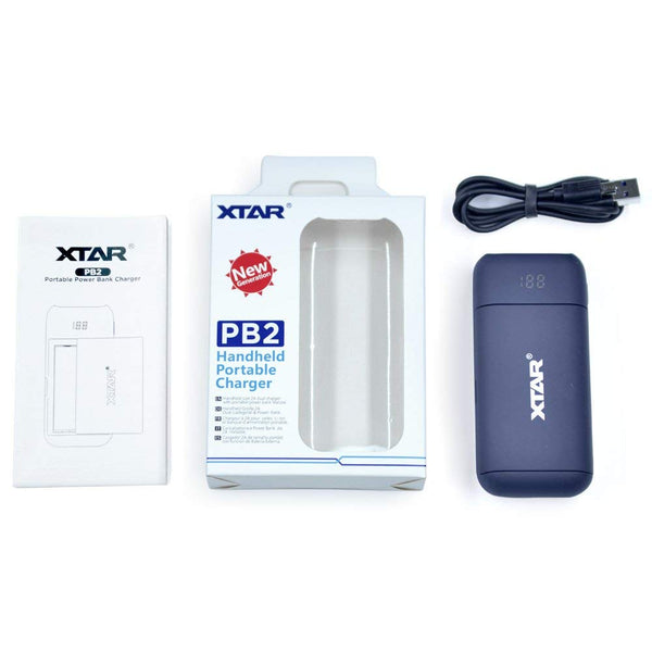 XTAR PB2 18650 Handheld Portable Charger with USB Cable