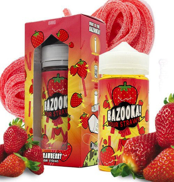 Strawberry Sour Straws by Bazooka Vape - 60mL