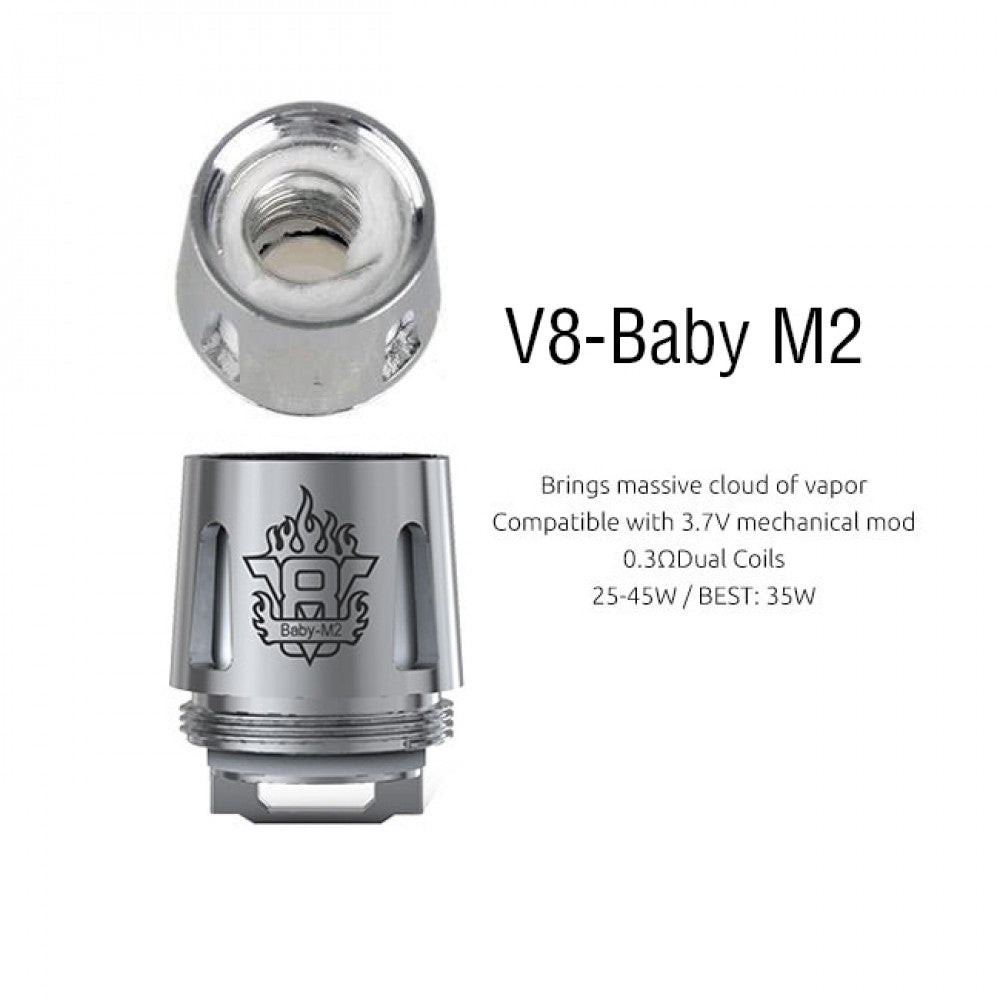 best salt nic devices: Smok TFV8 V8 Baby M2 Core Coil (Pack of 5)