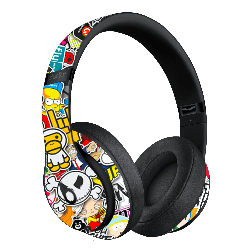 BEATS STUDIO3 WIRELESS SKIN - Sticker Bomb