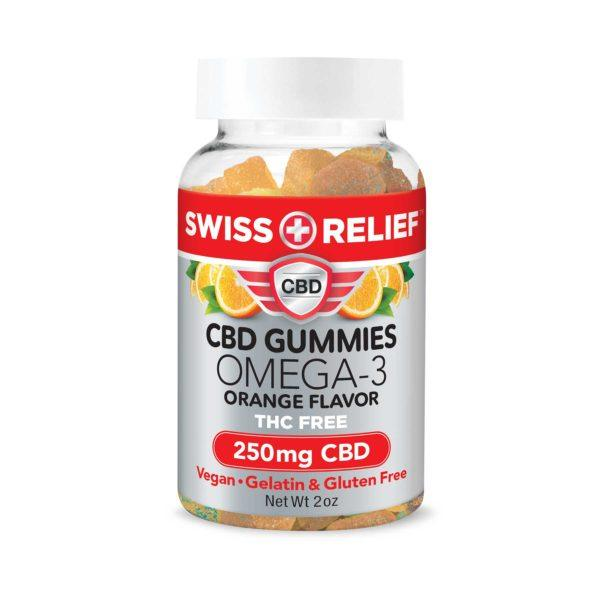 CBD Gummies with Omega 3 by Swiss Relief - 250MG