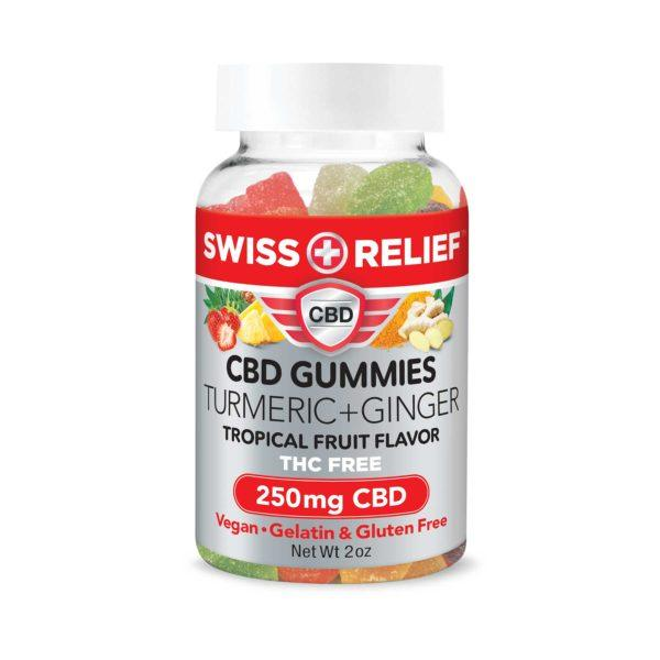 CBD Gummies with Turmeric Ginger by Swiss Relief - 250MG