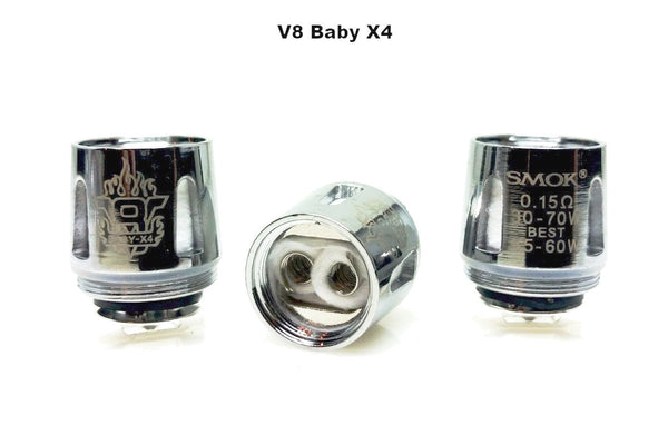 SMOK TFV8 BABY-X4 Core Replacement Coils - 5pk (5 Replacement Coils)