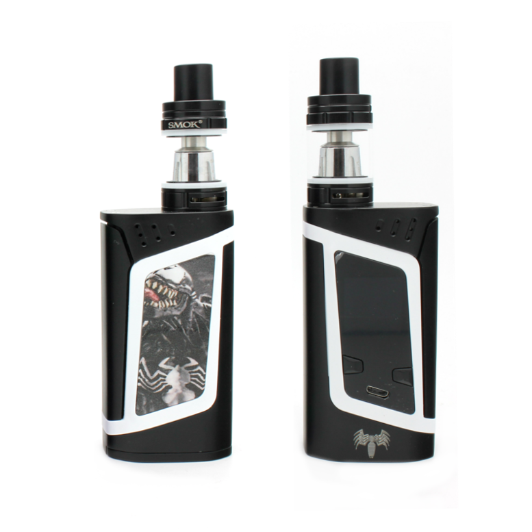 "SMOK Alien 220W Kit - ""Heroes & Villains"" Edition - Venom - Custom Painted + Engraved"