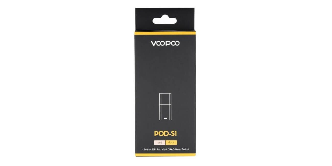 VOOPOO Pod-S1 - 4pcs Replacement Pods