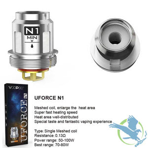VOOPOO UFORCE N P U and D Series Replacement Coils - 5-Pack