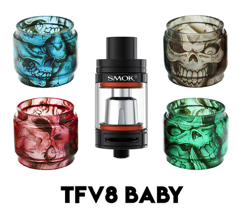 SMOK TFV8 Baby Custom Bulb Glass - Skulls (ONLY GLASS)