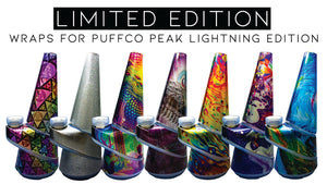 Vape Central Group Wraps for Puffco Peak LIGHTNING Edition