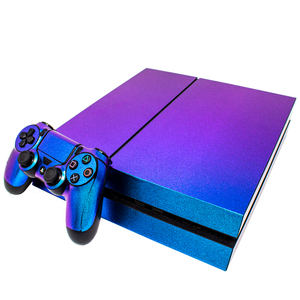 SONY PS4 CONSOLE SKIN - Blue Glitter