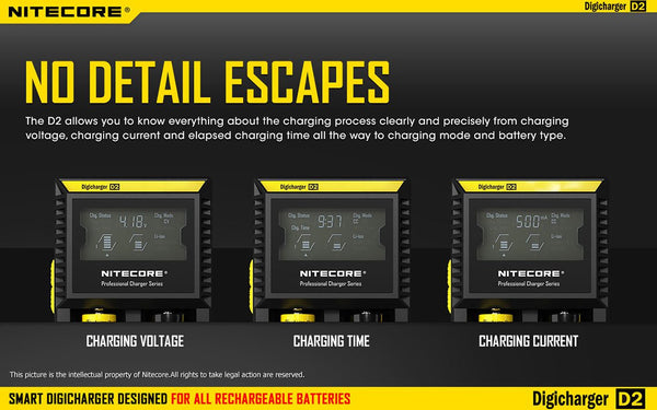 Nitecore D2 Battery Charger (2-Bay)
