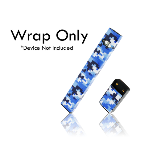 Vape Central Group Wraps for JUUL - Blue Digi Camo