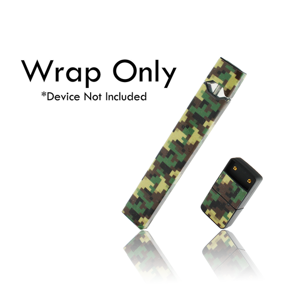 Vape Central Group Wraps for JUUL - Green Digi Camo