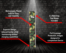Load image into Gallery viewer, Vape Central Group Wraps for JUUL - Green Digi Camo