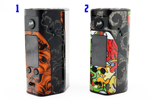 WISMEC REULEAUX RX 200S PAINTED SLEEVES AND ENGRAVED MOD