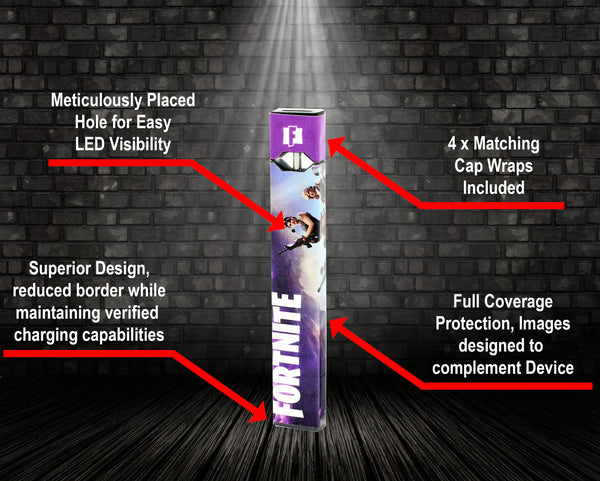 Vape Central Group Wraps for JUUL - Fortnite