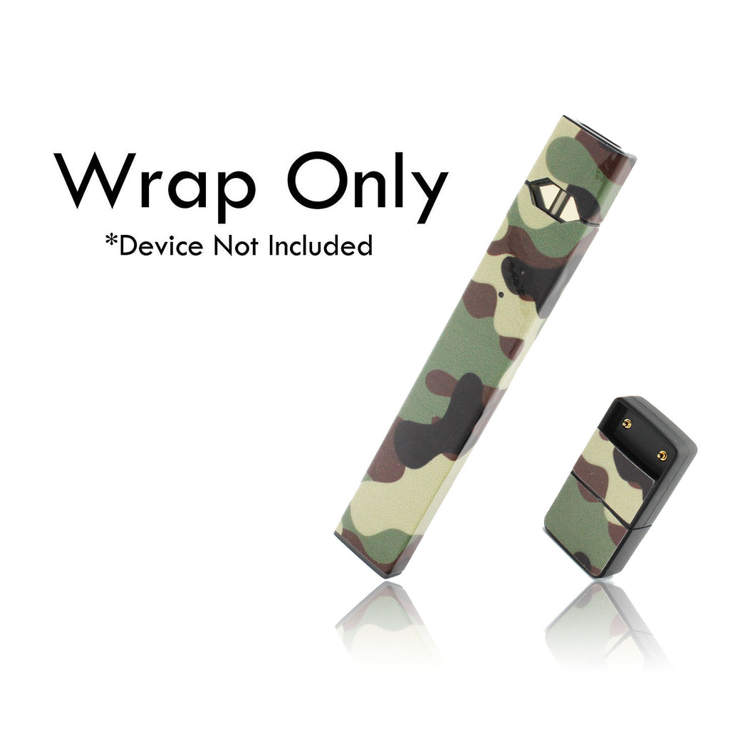 Vape Central Group Wraps for JUUL - Green Camo