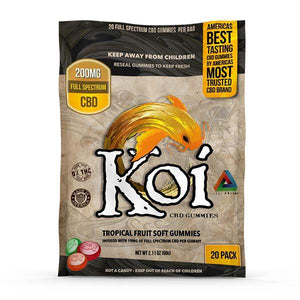 Koi Infused Gummies - Tropical Fruit 200mg