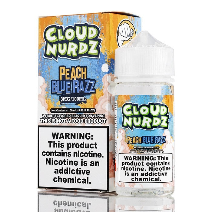 Peach Blue Razz by Cloud Nurdz E-Liquid - 100mL