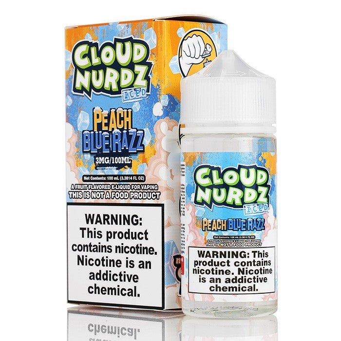 Peach Blue Razz ICED by Cloud Nurdz E-Liquid - 100mL