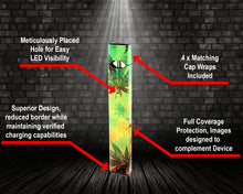 Load image into Gallery viewer, Vape Central Group Wraps for JUUL - Rasta