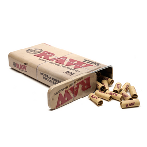 RAW Metal Tin with Pre-Rolled Tips (100 Pack)