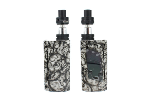 "SMOK Alien 220W Kit - Custom Painted ""Silver Skulls"" Edition"