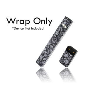 Vape Central Group Wraps for JUUL - Silver Skulls