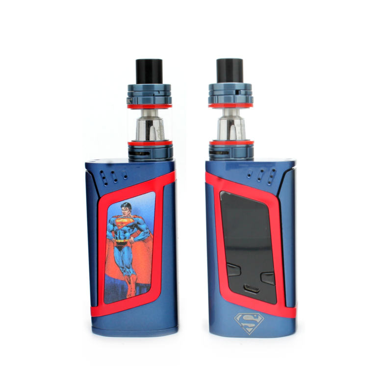 "SMOK Alien 220W Kit -""Heroes & Villains"" Edition - Superman - Custom Painted + Engraved"