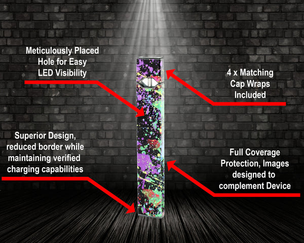 Vape Central Group Wraps for JUUL - Splat