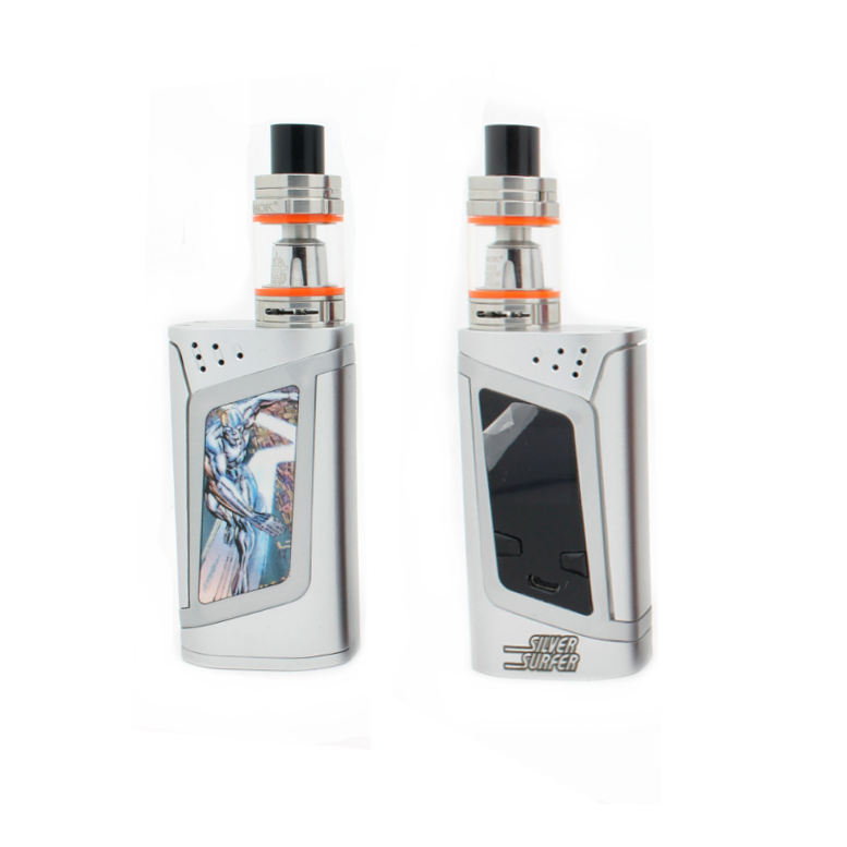 "SMOK Alien 220W Kit -""Heroes & Villains"" Edition - Silver Surfer - Custom Painted + Engraved"