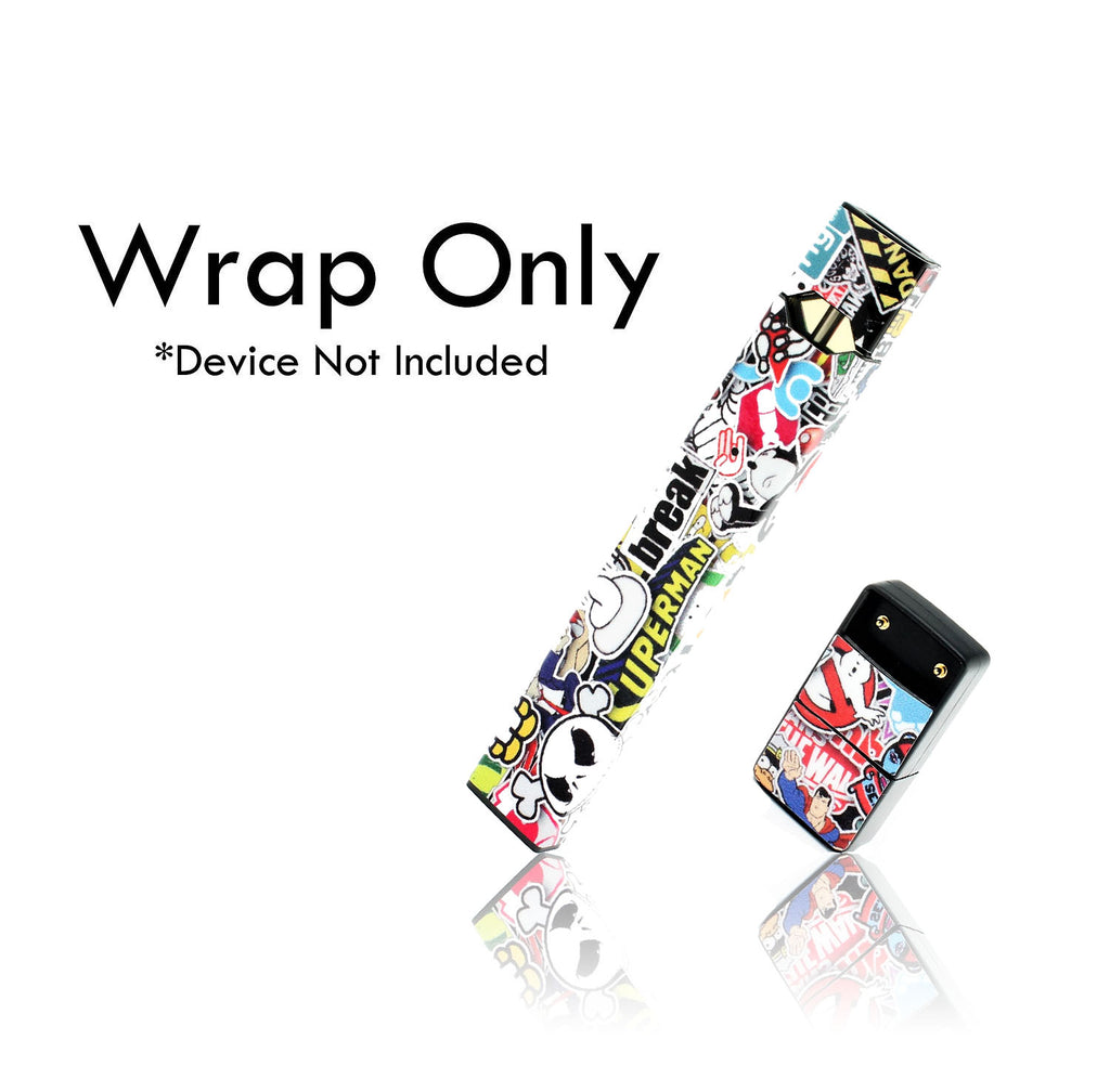 Vape Central Group Wraps for JUUL - Sticker Bomb