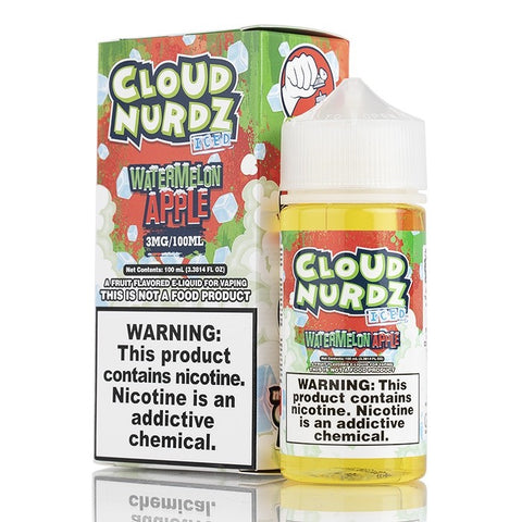 Watermelon Apple ICED by Cloud Nurdz E-Liquid - 100mL