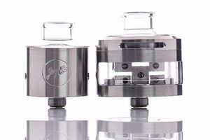 Wismec Inde Duo RDA by JayBo Stainless and Glass Two Post Dual Mode 22mm or 30mm