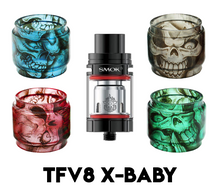 Load image into Gallery viewer, SMOK TFV8 X-Baby Custom Bulb Glass - Skulls (ONLY GLASS)