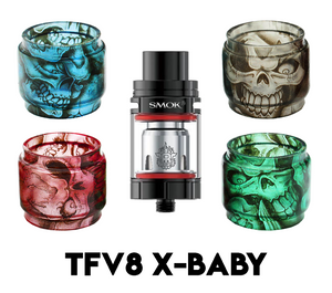 SMOK TFV8 X-Baby Custom Bulb Glass - Skulls (ONLY GLASS)