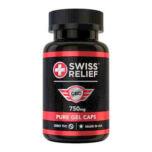 CBD Pure Gel Caps by Swiss Relief - 750MG