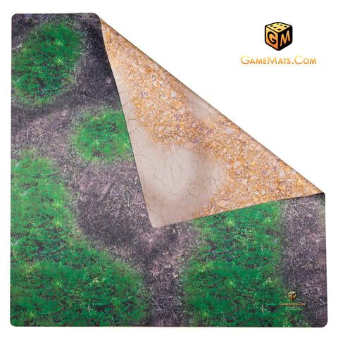 GameMats double sided mat desert/forest