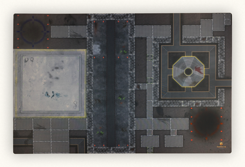 GameMats Gamma Station 6' X 4' tabletop war games game mat for miniatures games