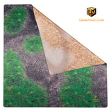 GAME MAT 3 x 3 DOUBLE SIDED  Desert/Woodland - Janus Alpha